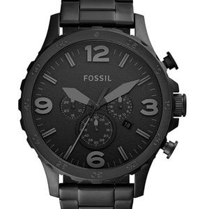 Fossil Men's Nate Quartz Stainless Steel and Metal